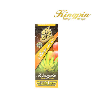Kingpin King Pin Hemp Wraps 4-Pack Mango Tango