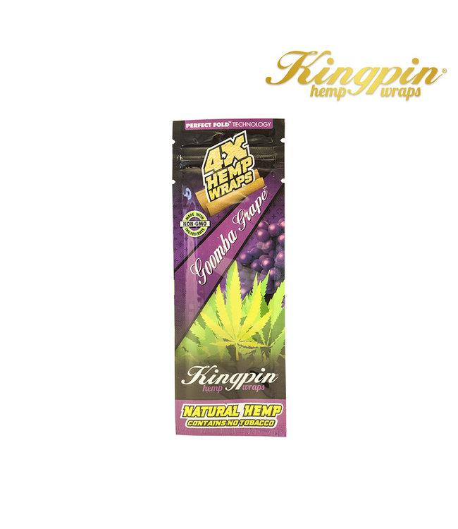 Kingpin King Pin Hemp Wraps 4-Pack Goomba Grape