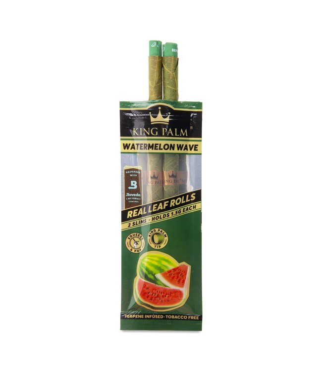 King Palm King Palm Slim Watermelon Wave Pre-Roll Pouch 2-Pack