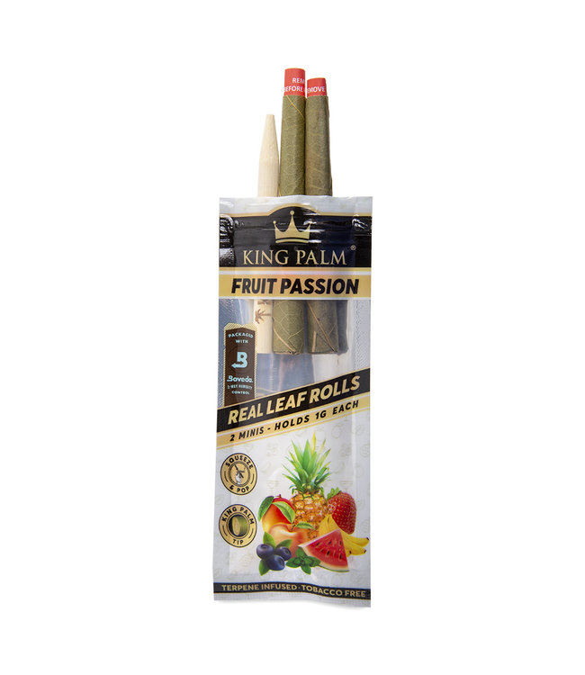 King Palm King Palm Mini Fruit Passion Pre-Roll Pouch 2-Pack