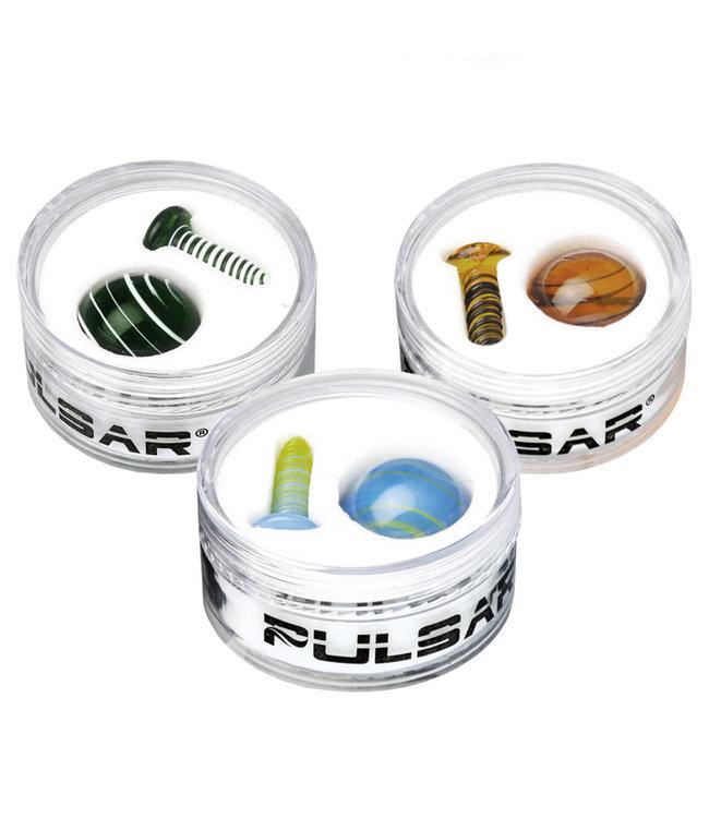 Pulsar Pulsar Terp Slurper Screw & Marble 2-Piece Set Assorted Colours