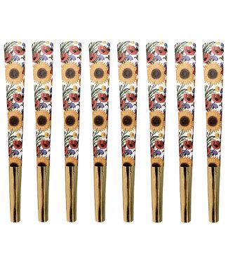 Beautiful Burns Sunflower Salutations Designer Cones 8-Pack