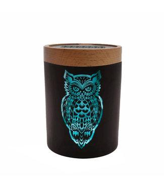V Syndicate V Syndicate SmartStash Jar Owllusion Turquoise Large