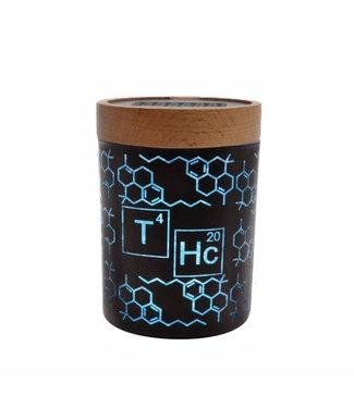 V Syndicate V Syndicate SmartStash Jar THC Elemental Blue Medium
