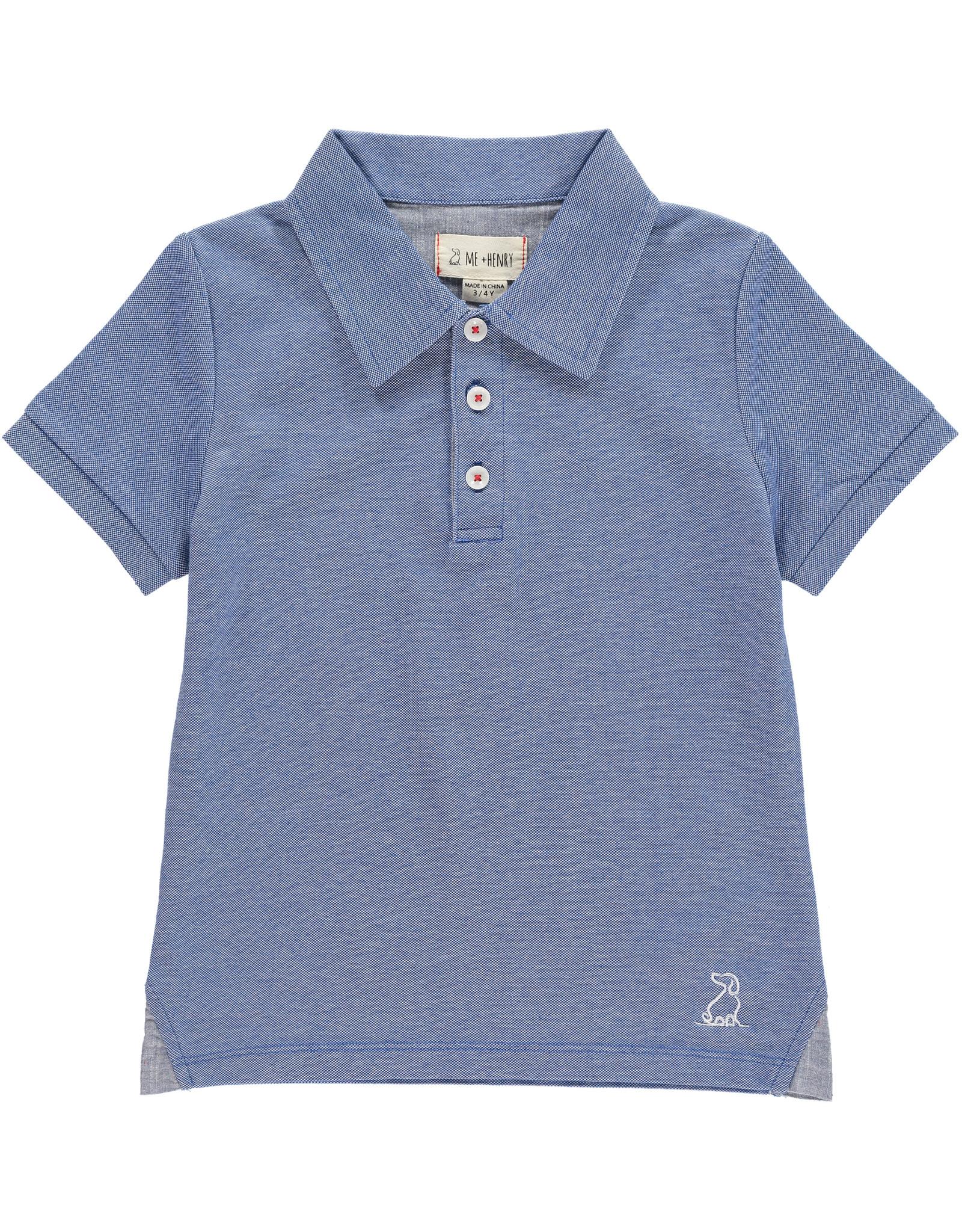 Blue Pique Polo - BB