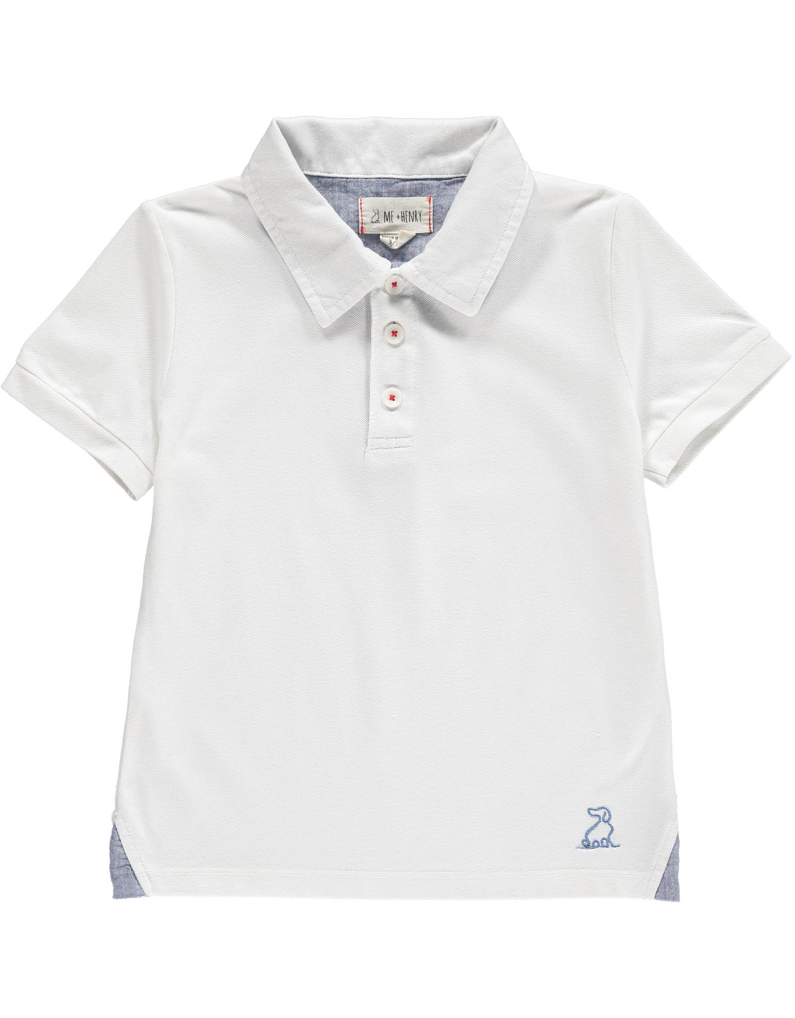 White Pique Polo - BB
