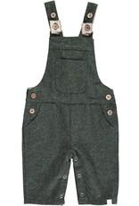 Green herringbone overalls