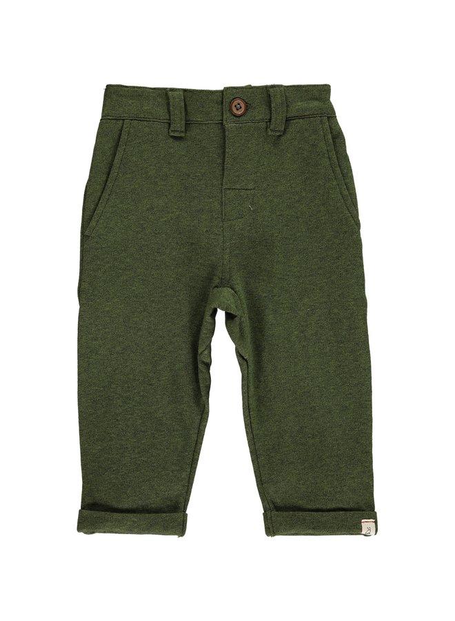 Green jersey pants