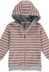 Brown/Cream stripe hooded top