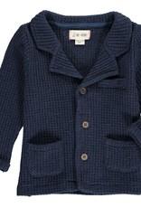 Navy jersey waffle jacket
