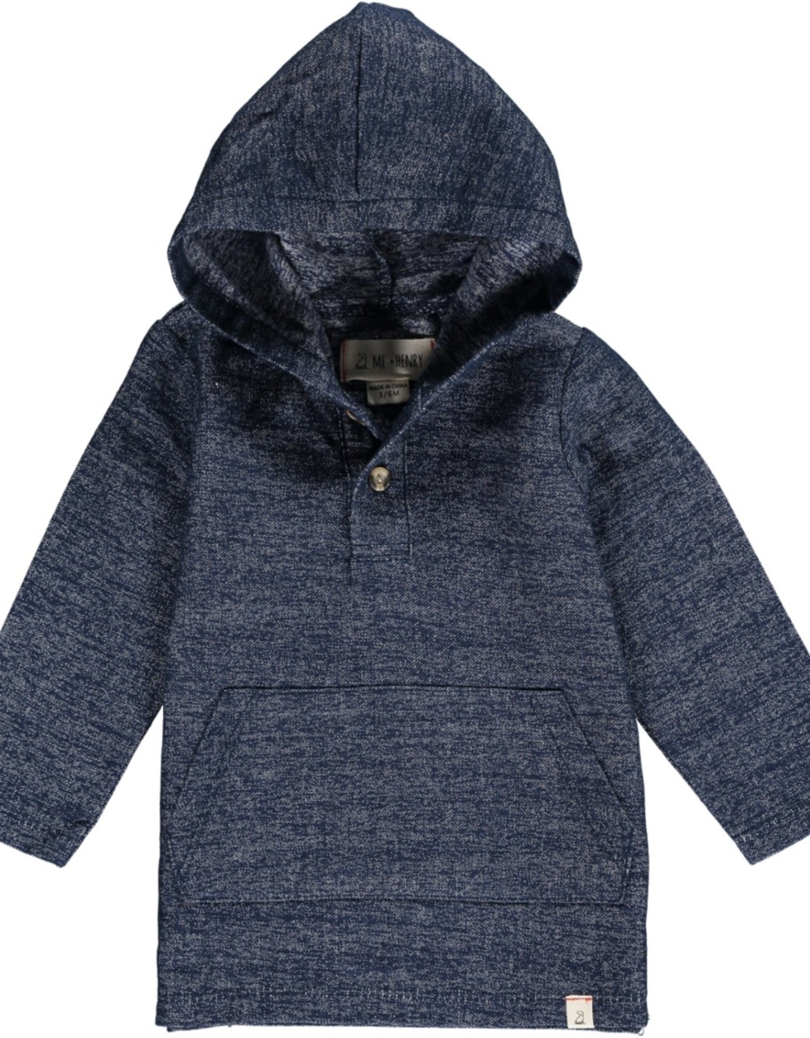 Navy hooded top