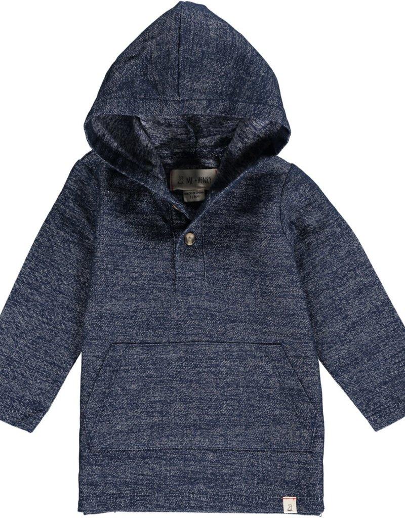 Navy hooded top