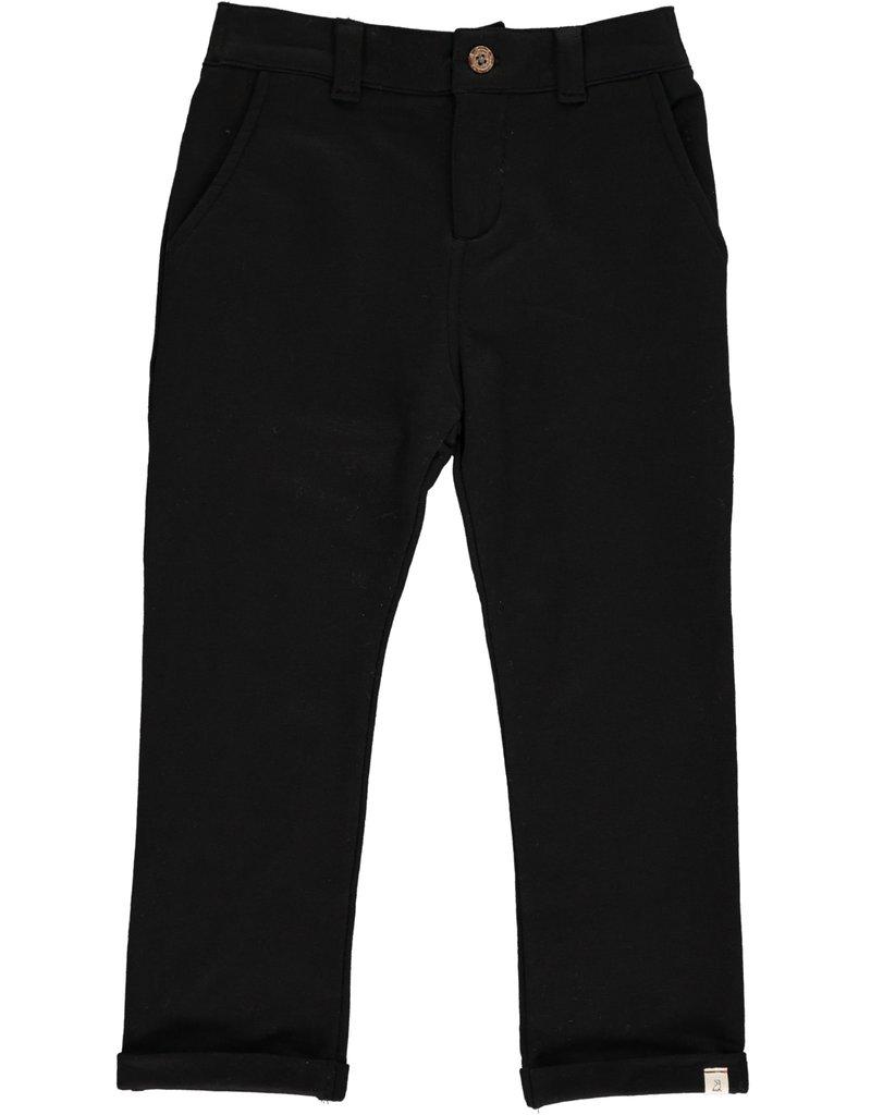 Black jersey pants