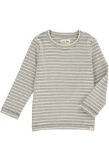 Grey stripe tee