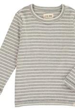 Grey stripe tee
