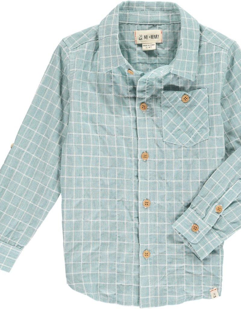 Green plaid shirt