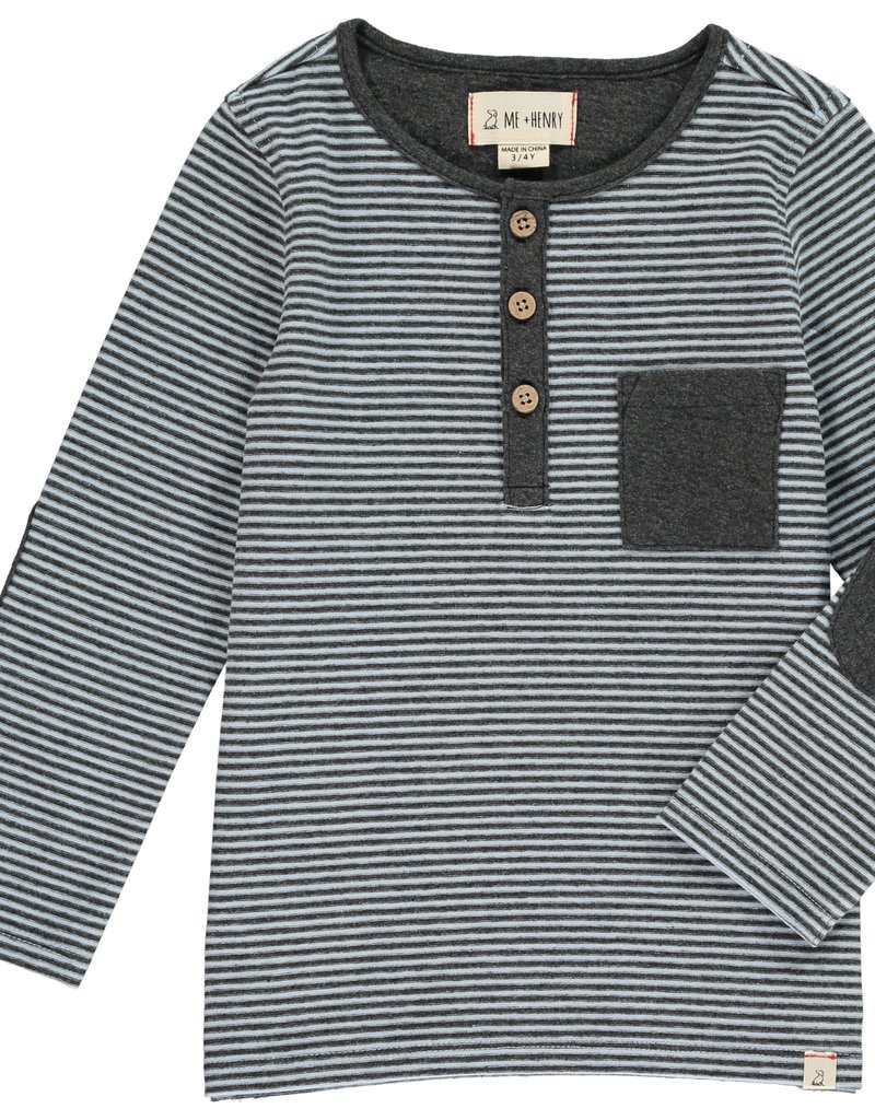 Blue stripe Henley tee