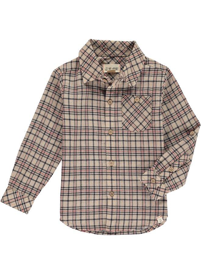 Beige plaid shirt