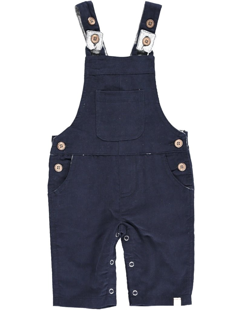 Navy cord overalls