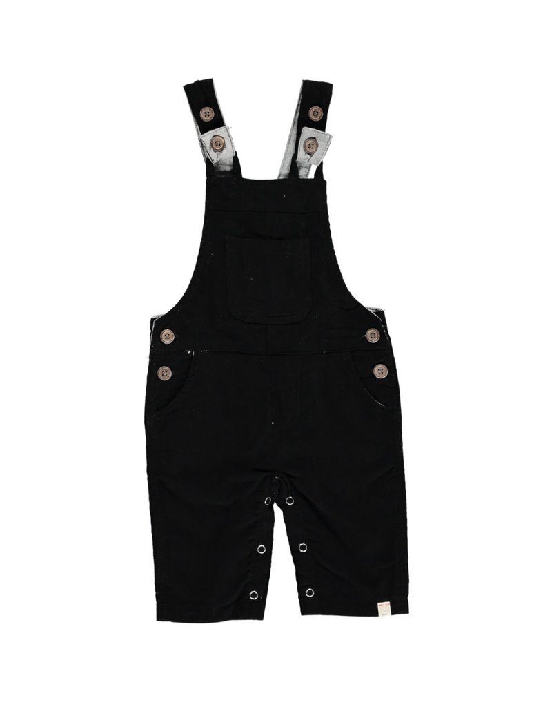 Black cord overalls