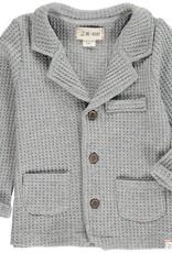 Grey jersey waffle jacket