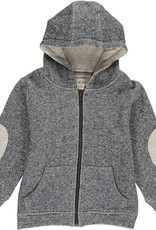 Navy hooded sweat top