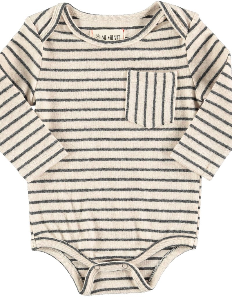 Navy stripe onesie