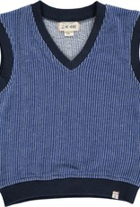 Navy knitted vest