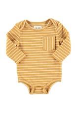 Gold stripe onesie
