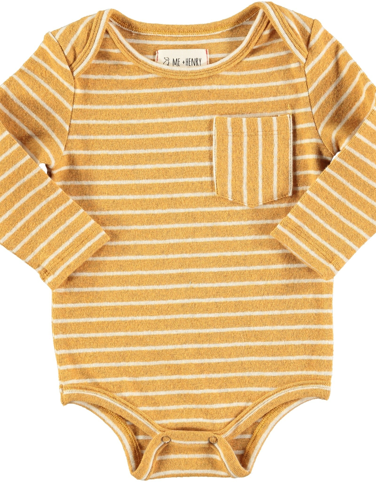 Gold stripe onesie