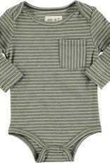 Green stripe onesie