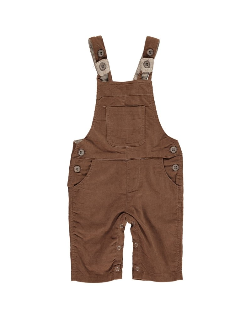 Brown cord overalls