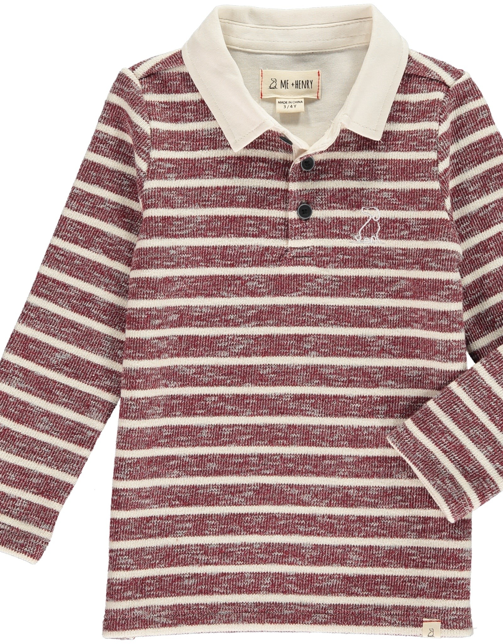 Burgundy stripe rugby