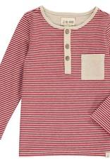 Red stripe Henley tee