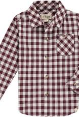 Wine plaid shirt