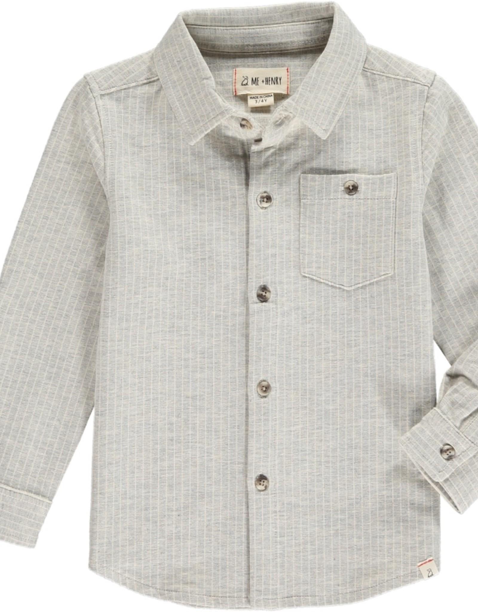 Grey stripe stretch jersey shirt