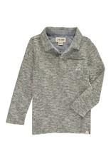 Green/Grey stripe polo