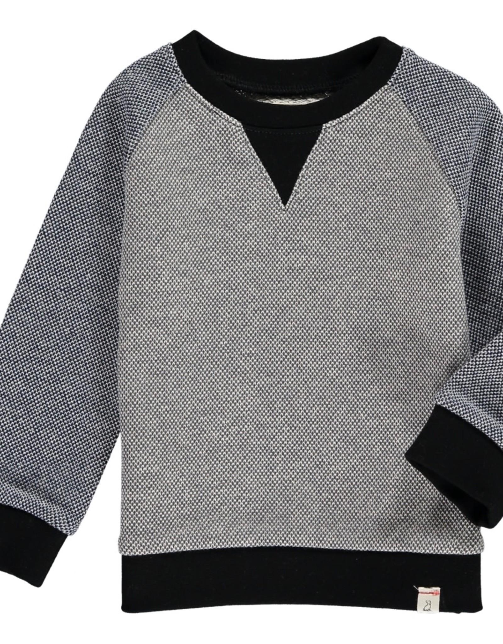 Grey/Blue raglan sweat top