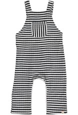 Grey striped overalls
