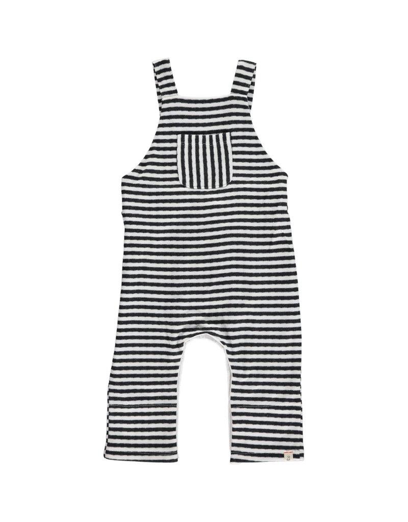 Grey striped overalls
