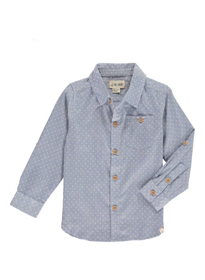 Blue spot shirt