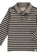 Navy/Beige stripe rugby