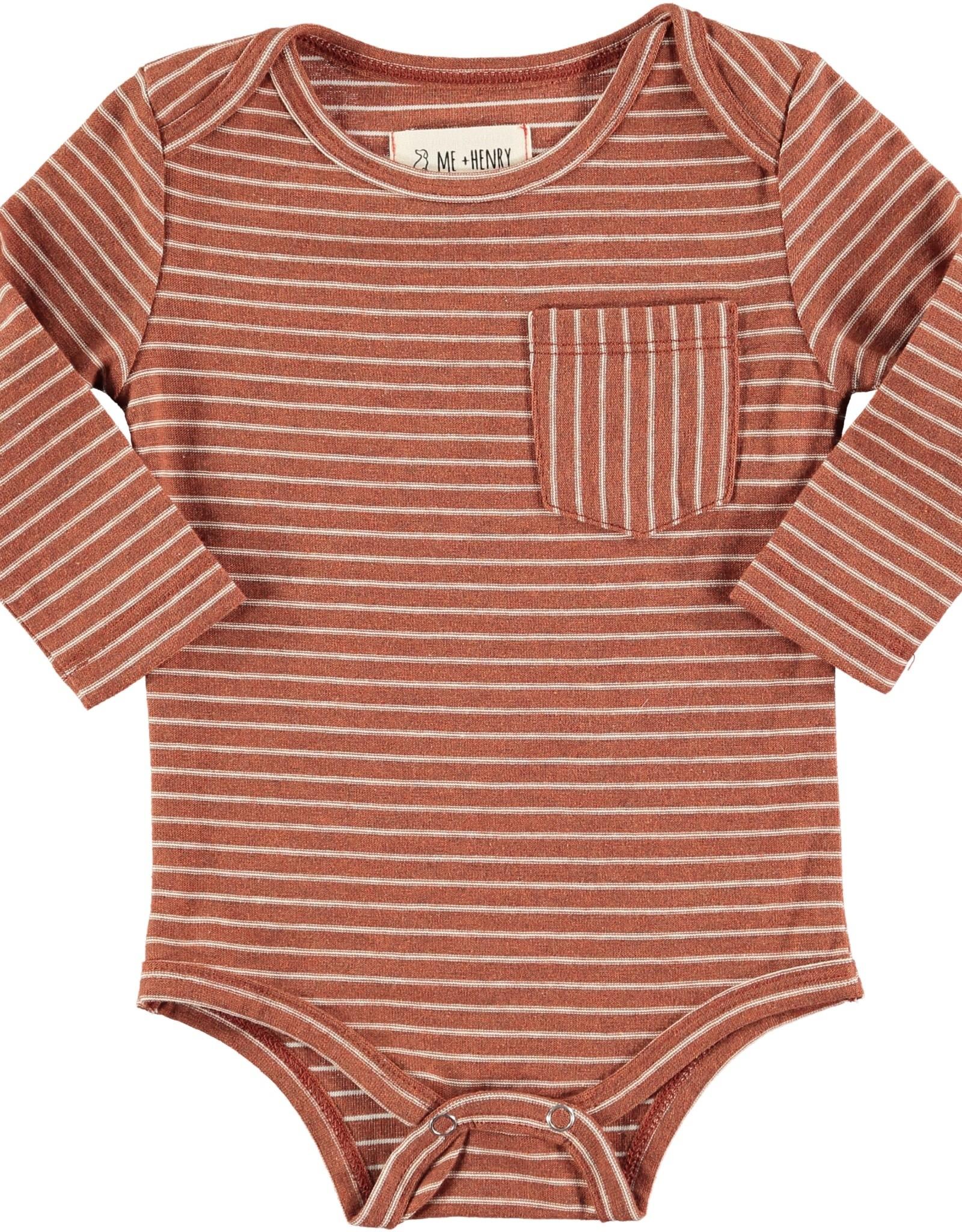 Brown stripe onesie
