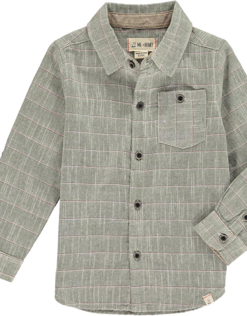 Olive stripe shirt