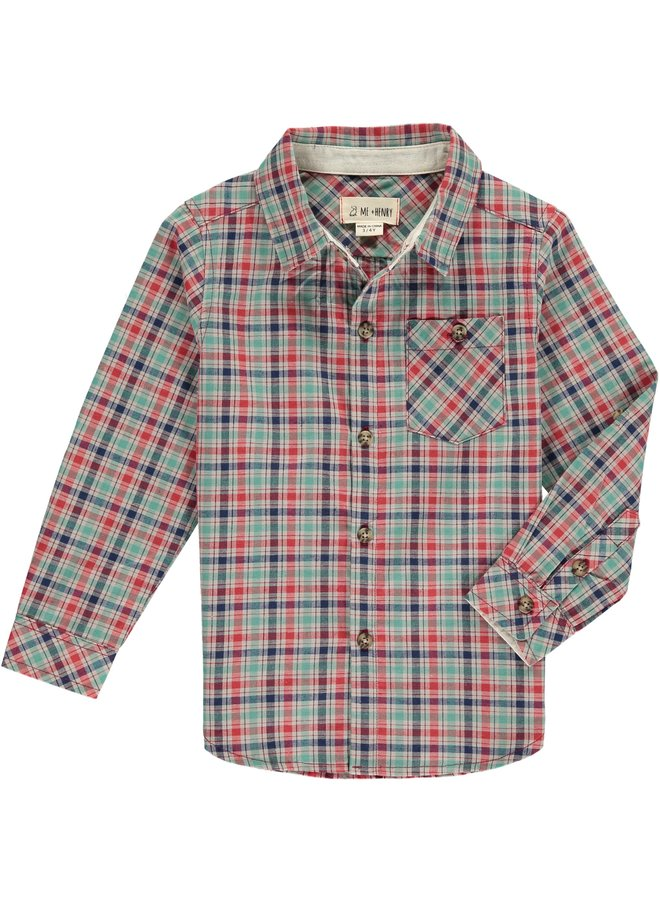 Green/Red plaid shirt