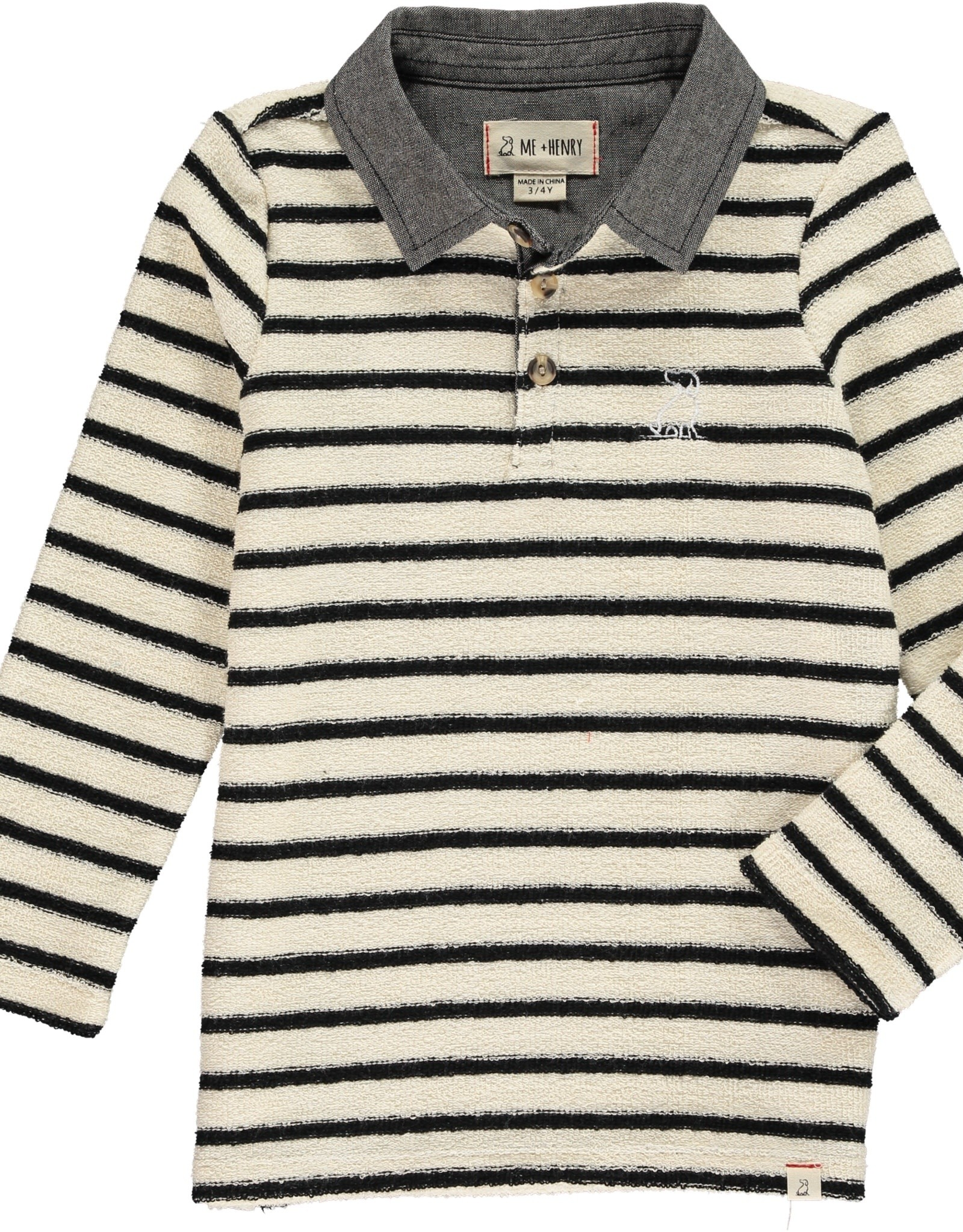 Navy/Cream stripe rugby