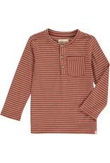 Brown stripe Henley tee