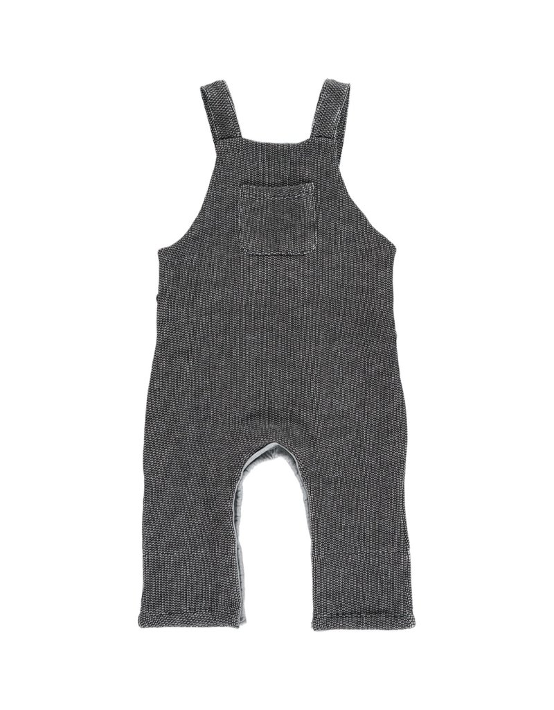 Black sweat overalls