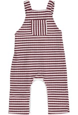 Wine striped overalls