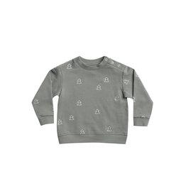 Fleece Basic Sweatshirt - eucalyptus